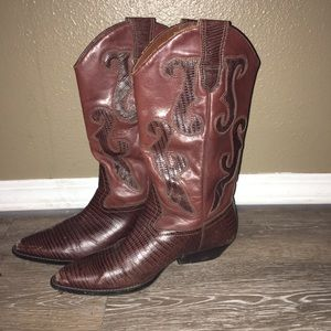 Nine West leather cowboy boots